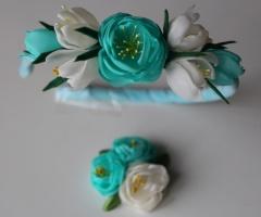 Обруч для волос «Голубой бриз» + фирменная заколка от автора handmade Анны Юриной