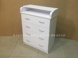 Комод пеленальный Малыш 4 ящика, цвет Белый