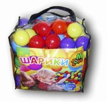 Шарики для сухого бассейна в сумке мягкие, 80 мм, 100 шаров