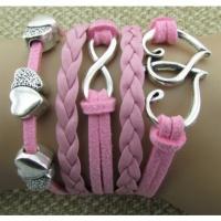 Браслет 5в1 розовый Сердечки (tb935)