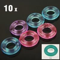 Силиконовые секс кольца для пениса 10шт. эрекционные кольца, задержание эякуляции кольца, Кольца для пениса