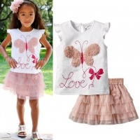Детский летний костюм для девочки «Бабочка»