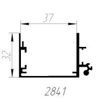 База 2841 профиль алюминиевый для лайтбокса, анод