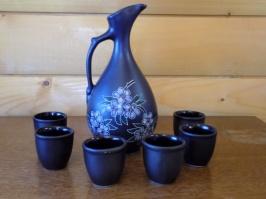Питьевой набор Кувшин и рюмки «Flower»