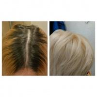 Покраска волос, корней