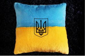 Светящаяся подушка патриота Украины