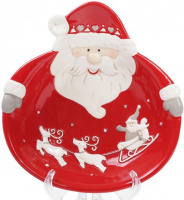 Набор 2 керамические пиалы «Санта» 21см, красные