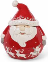 Банка керамическая «Санта» 1300мл для сыпучих продуктов