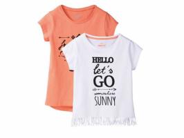 Комплект 2шт футболок для девочек Pepperts