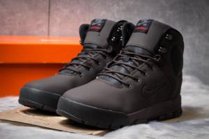 Зимние ботинки на меху в стиле Nike LunRidge, коричневые (30522),  [  41 42 43 44 45  ]