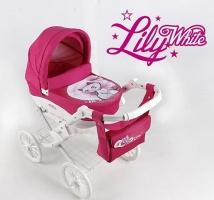 Коляска для куклы Adbor Lily White 01