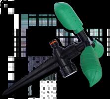 Ороситель, вращающийся с тремя листочками, на колышке