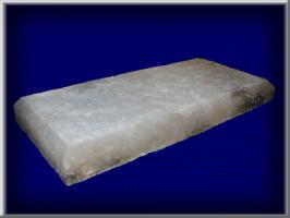 Плитка из соли. Высота/ширина -170х360мм. Толщина плитки - 35 мм. Вес - 5,5 кг. В 1 м.кв. - 17 шт.
