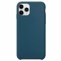 Чехол Silicone Case without Logo (AA) для Apple iPhone 11 Pro Max (6.5«) Синий / Cosmos Blue