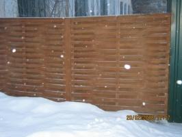 Забор с пиломатериала