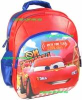Рюкзак с 3D рисунком для Мальчика школьный Тачки, Маккуин, Маквин. Объёмное изображение