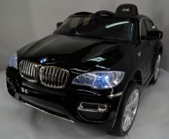 Детский электромобиль BMW X6 258 черный лак