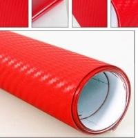 Карбон 3D красный