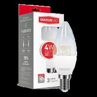 LED лампа MAXUS C37 CL-C 4W мягкий свет 220V E14 (1-LED-5313)