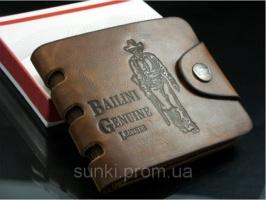 Мужской кошелек бумажник с вырезами Bailini