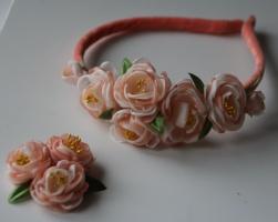 Весенний обруч для волос «Яблочный цвет» + фирменная заколка от автора handmade Анны Юриной