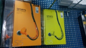 Спортивные наушники капельки Remax RM-S15 с микрофоном для спорта Подбор аксессуаров, чехлы, защитные стекла, пленки,