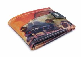 Удобный компактный кошелек «Авто на оранжевом фоне»