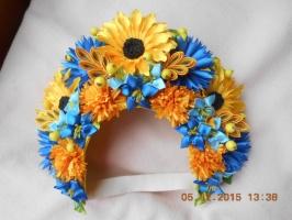Венок на голову «Украина благословенна» от автора handmade Людмилы Желтяковой