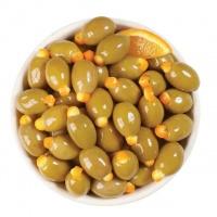 Зеленые оливки фаршированные апельсином «Green Olives S.Mamouth 101-110 stuffed with Orange»