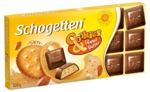 Шоколад Schogetten Cookies & Peanutbutter 100 г
