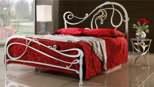 Кованая кровать «Легенда» с двумя спинками