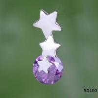 Очаровательный кулон с АМЕТИСТОМ звезда серебро 925