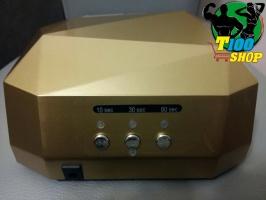 Гибридная ЗОЛОТАЯ УФ-лампа LED+CCFL Diamond 36W (магнит)для гель-лаков с таймером 10,30,60 сек Лампа гибрид