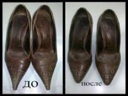Перетяжка носков (летняя обувь)