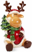Банка для новогодних сладостей «Олень» 6.5л керамическая