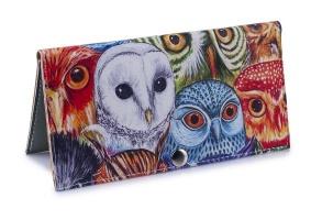 Женский кошелек -Цветные совы-. Ручная работа