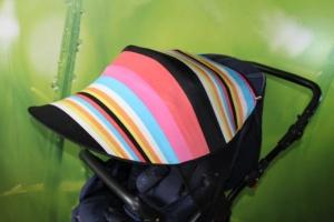 Кап от солнца на коляску с принтом