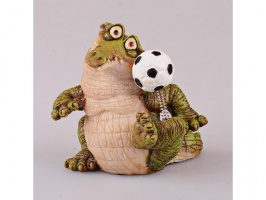 Фігурка декоративна «Крокодил Футболіст» 7х6 см
