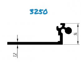 База к 32 клик системе алюминиевая без пазов, анод