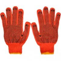 Перчатки х/б, рабочие, оранжевые