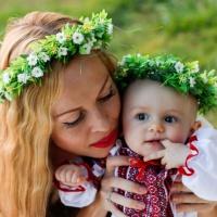 Тандем віночків для матусі та донечки «Сімейне благополуччя»