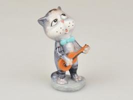 Фігурка декоративна «Кіт з гітарою» 10 см