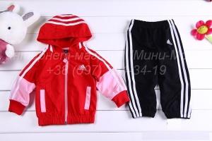 Детский спортивный костюм «Adidas», красный