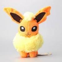 Покемон Флареон (Flareon) плюшевая игрушка, 20 см