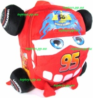 Рюкзак дошкольный детский Тачки Молния Маквин McQueen, высота 26см