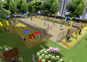 Дитячі та спортивні майданчики, благоустрій та ландшафтний дизайн