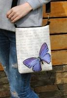 Женская сумка через плечо «Винтажна бабочка» Есть в наличии