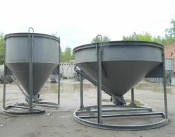 Бункер для бетона конусный рюмка 1,5 куб м