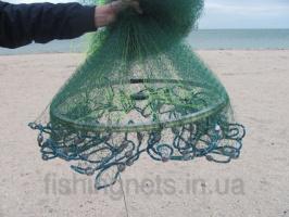 Кастинговая сеть из лески с большим кольцом диаметром 4 м (парашют, намет)
