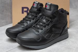 Зимние ботинки в стиле Reebok Classic, черные (30214),  [  41 42 43 45  ]